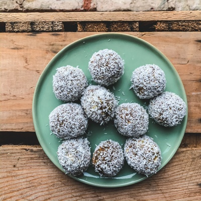 Add almond pulp in place of pistachios in your power balls